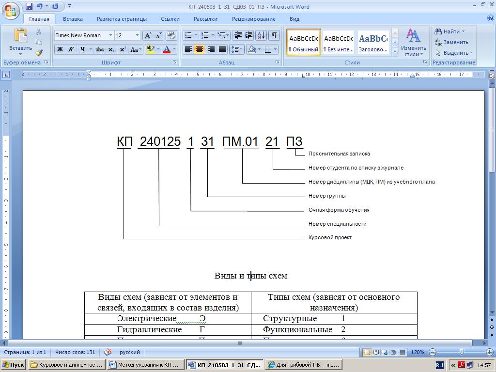 Оформление пояснительной записки курсовой работы проекта  Рис 1 Шифр в штампе на листе содержания