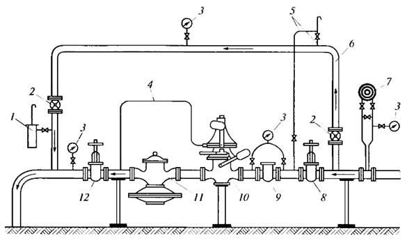 Схема продувочный газопровод