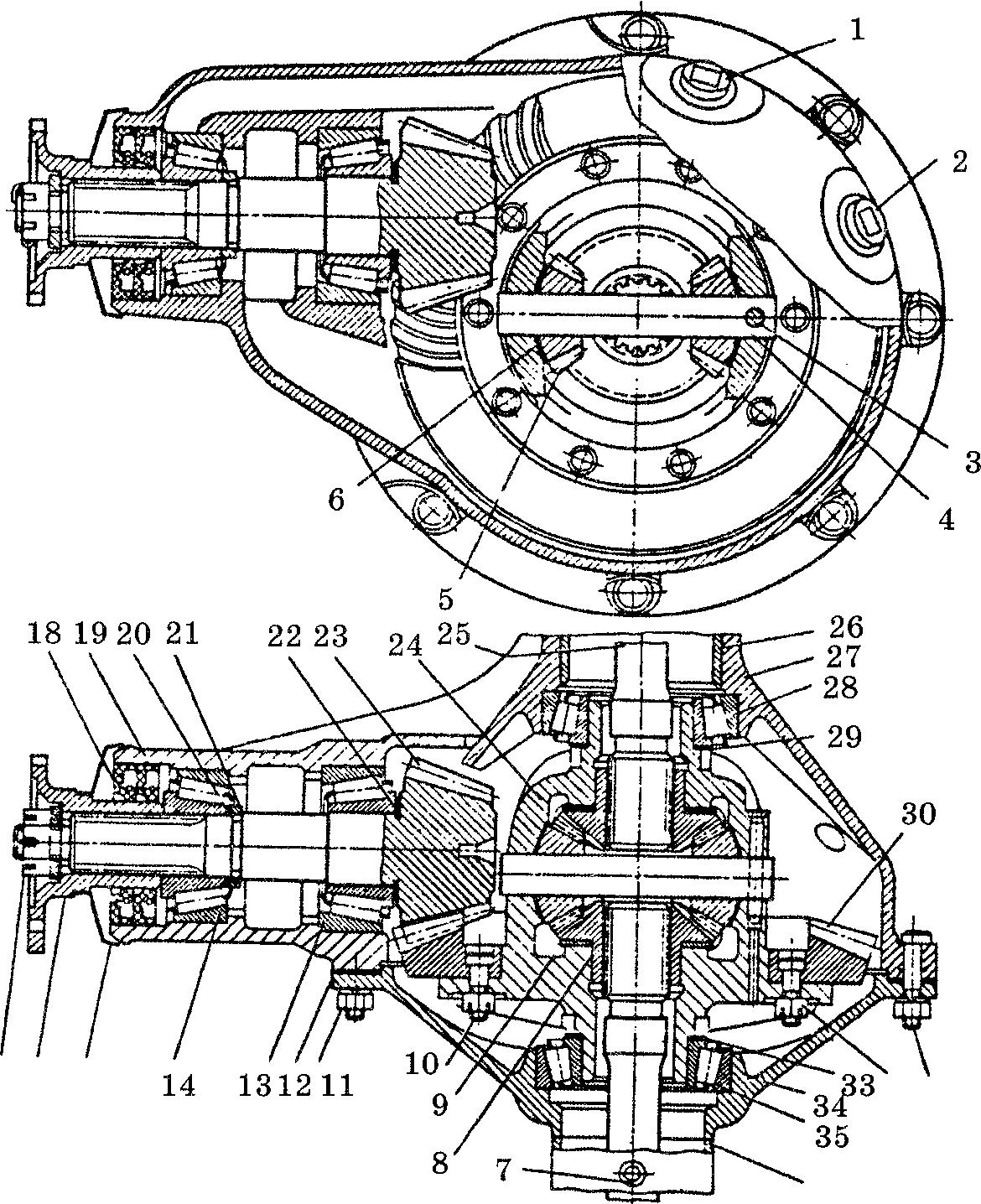 Схема заднего моста на газ 3110