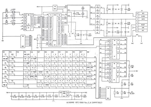 Схема клавиатуры и принцип