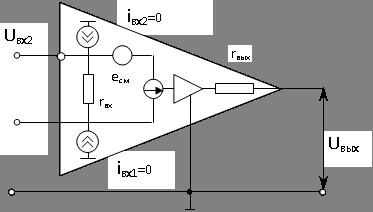 Операционные усилители схема замещения