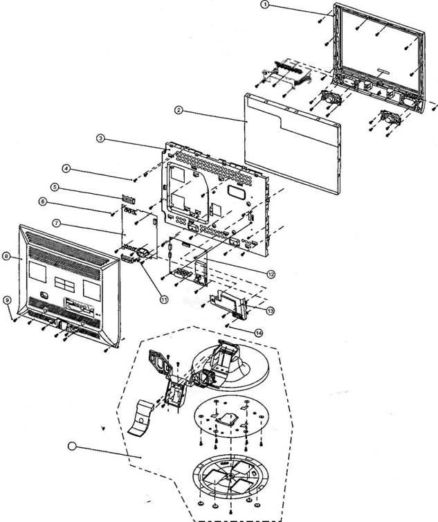 Конструктивные узлы телевизора