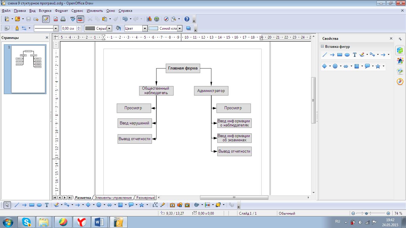 Схема данных программного продукта