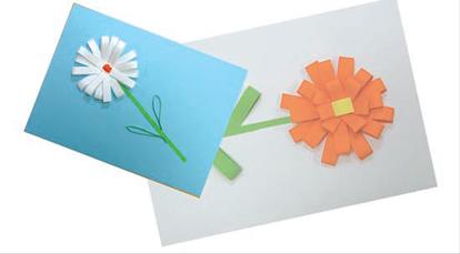 Поделки из полосок белой бумаги